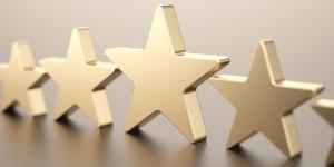 Label d'excellence symbolisé par cinq étoiles