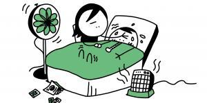 illustration la fièvre, température élevée, infections virales