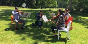 Musique de chambre par le quatuor de l'Ensemble instrumental romand