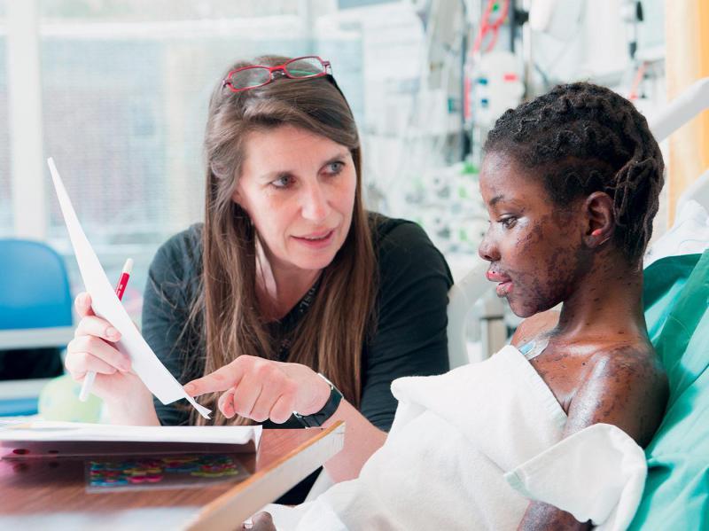 l'apprentissage à l'hôpital
